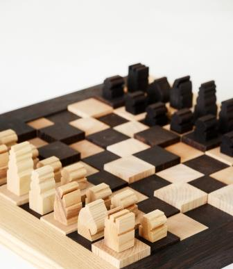 Wenge and Ash Chess board
