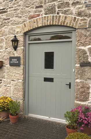 Barn entrance door