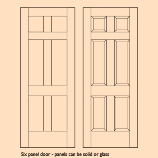 Wooden Six Panel Doors - DOOR | BESPOKE | 6 PANEL image