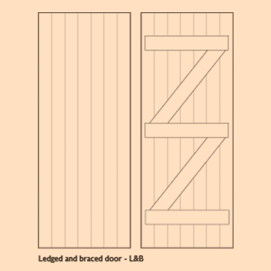 Wooden Ledge and Braced Doors - DOOR LB image