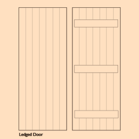 Wooden Ledged Doors - DOOR | BESPOKE | LEDGE image