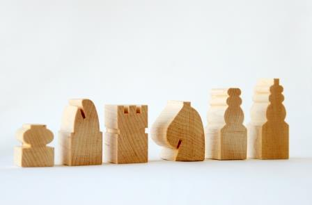 Chess pieces in Maple 3d