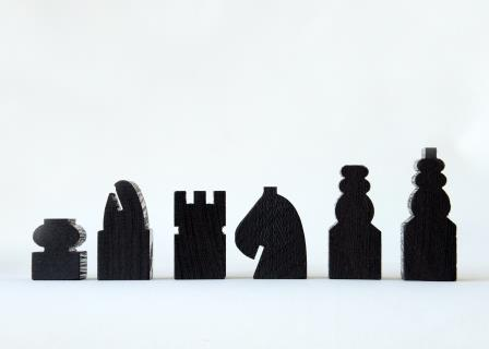 Wenge Chess Pieces