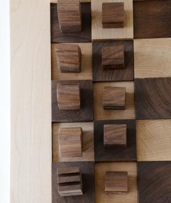 Hardwood chess board