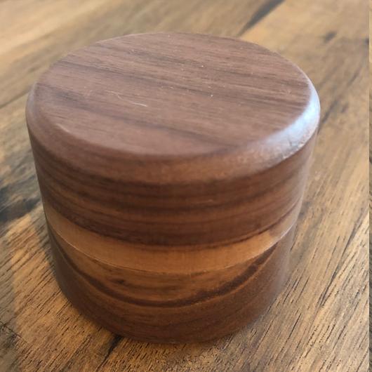 Walnut ring or ear ring box