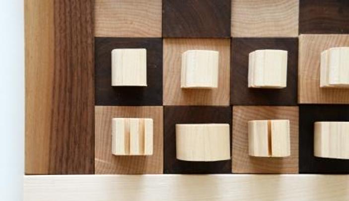 Handmade Wooden 3D Chess Board