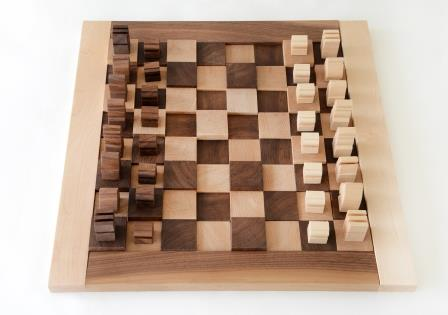 Wooden Chess Board - Walnut and Maple chess board