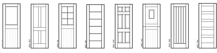 Bespoke wooden doors