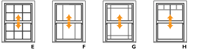 Traditional sliding sash windows made to match
